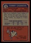 1973 Topps #198  Tommy Casanova  Back Thumbnail