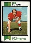1973 Topps #168  Len St. Jean  Front Thumbnail