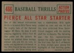 1959 Topps #466   -  Bill Pierce All Star Starter Back Thumbnail