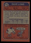 1973 Topps #356  Dave Long  Back Thumbnail