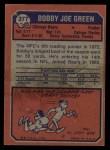 1973 Topps #377  Bobby Joe Green  Back Thumbnail