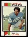1973 Topps #395  Charlie Sanders  Front Thumbnail