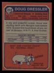 1973 Topps #254  Doug Dressler  Back Thumbnail