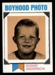 1973 Topps #265   -  Donny Anderson    Boyhood Photo Front Thumbnail