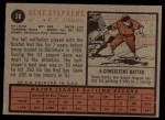 1962 Topps #38  Gene Stephens  Back Thumbnail