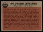 1962 Topps #163 NRM  -  Billy Gardner / Clete Boyer Hot Corner Guardians Back Thumbnail