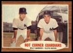 1962 Topps #163 NRM  -  Billy Gardner / Clete Boyer Hot Corner Guardians Front Thumbnail