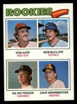 1977 Topps #472   -  Don Aase / Bob McClure / Gil Patterson / Dave Wehrmeister Rookie Pitchers   Front Thumbnail