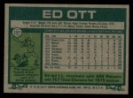 1977 Topps #197  Ed Ott  Back Thumbnail