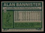 1977 Topps #559  Alan Bannister  Back Thumbnail
