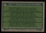 1977 Topps #476   -  Dale Murphy / Gary Alexander / Rick Cerone / Kevin Pasley Rookie Catchers Back Thumbnail