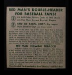 1952 Red Man #9 NL x Monte Irvin  Back Thumbnail