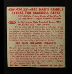 1953 Red Man #18 NL x Granny Hamner  Back Thumbnail
