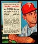 1953 Red Man #18 NL x Granny Hamner  Front Thumbnail