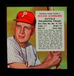 1954 Red Man #1 NL x Richie Ashburn  Front Thumbnail