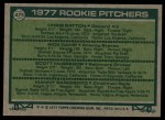 1977 Topps #475   -  Scott McGregor / Manny Sarmiento / Rick Camp / Chris Batton  Rookie Pitchers   Back Thumbnail