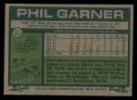 1977 Topps #261  Phil Garner  Back Thumbnail