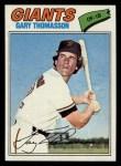 1977 Topps #496  Gary Thomasson  Front Thumbnail