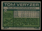 1977 Topps #145  Tom Veryzer  Back Thumbnail