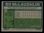 1977 Topps #184  Bo McLaughlin  Back Thumbnail