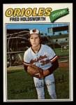 1977 Topps #466  Fred Holdsworth  Front Thumbnail