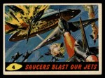 1962 Bubbles Inc Mars Attacks #4   Saucers Blast Our Jets Front Thumbnail