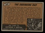 1962 Bubbles Inc Mars Attacks #24   The Shrinking Ray  Back Thumbnail