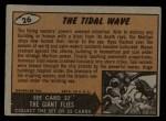 1962 Bubbles Inc Mars Attacks #26   The Tidal Wave  Back Thumbnail