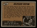 1962 Topps / Bubbles Inc Mars Attacks #28   Helpless Victim  Back Thumbnail