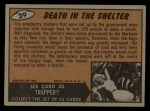 1962 Mars Attacks #29   Death in the Shelter Back Thumbnail