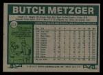 1977 Topps #215  Butch Metzger  Back Thumbnail