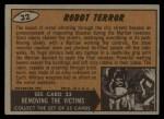 1962 Mars Attacks #32   Robot Terror  Back Thumbnail