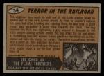 1962 Topps / Bubbles Inc Mars Attacks #34   Terror in the Railroad  Back Thumbnail
