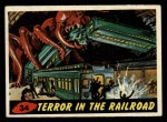 1962 Mars Attacks #34   Terror in the Railroad  Front Thumbnail