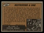 1962 Topps / Bubbles Inc Mars Attacks #36   Destroying Dog  Back Thumbnail