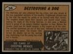 1962 Mars Attacks #36   Destroying Dog  Back Thumbnail
