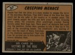 1962 Mars Attacks #37   Creeping Menace Back Thumbnail