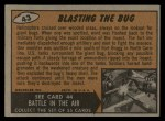 1962 Topps / Bubbles Inc Mars Attacks #43   Blasting the Bug  Back Thumbnail