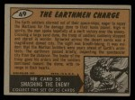 1962 Mars Attacks #49   The Earthmen Charge  Back Thumbnail