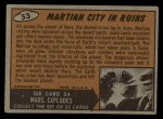 1962 Topps / Bubbles Inc Mars Attacks #53   Martian City in Ruins  Back Thumbnail