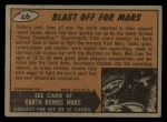 1962 Topps / Bubbles Inc Mars Attacks #46   Blast Off for Mars  Back Thumbnail