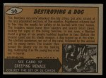 1962 Mars Attacks #36   Destroying Dog  Back Thumbnail
