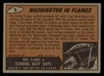 1962 Mars Attacks #5   Washington in Flames  Back Thumbnail