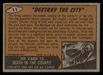 1962 Mars Attacks #11   Destroy the City Back Thumbnail
