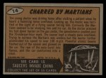 1962 Bubbles Inc Mars Attacks #14   Charred by Martians  Back Thumbnail