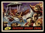 1962 Topps / Bubbles Inc Mars Attacks #15   Saucers Invade China  Front Thumbnail
