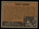 1962 Topps / Bubbles Inc Mars Attacks #32   Robot Terror  Back Thumbnail
