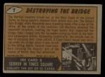 1962 Mars Attacks #7   Destroying the Bridge  Back Thumbnail