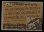 1962 Topps / Bubbles Inc Mars Attacks #6   Burning Navy Ships  Back Thumbnail