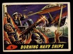1962 Topps / Bubbles Inc Mars Attacks #6   Burning Navy Ships  Front Thumbnail